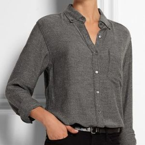 Isabel Marant Etoile Prune Flannel Button Down Top